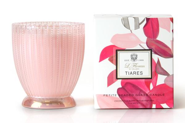 Tiares Petite Beaded Glass Candle by Voluspa L'Florem